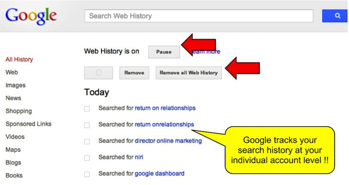 Delete Google (& YouTube) Browsing History In Just 1 Click